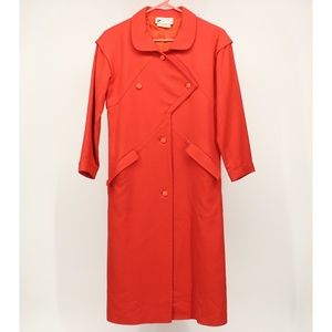 Vintage 1960's Courreges Paris Red Wool Jacket